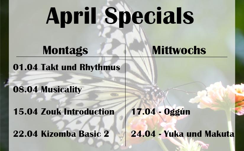 Specials im April