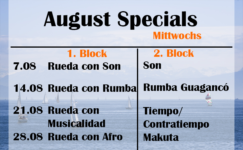August Specials: Mittwochs