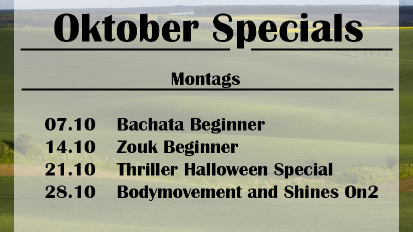 Oktober Montags Specials